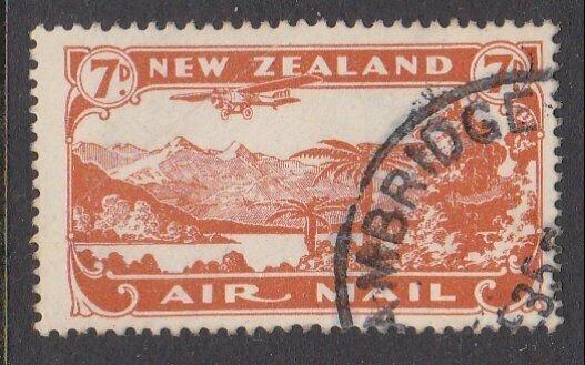 NEW ZEALAND 1931 7d airmail fine used - ACS cat NZ$30.......................M425