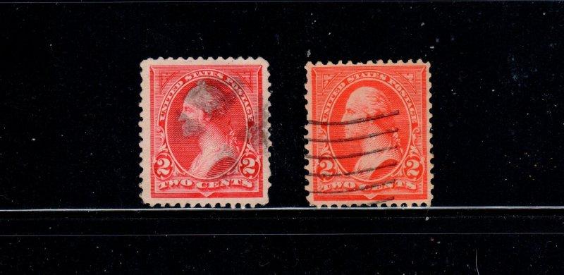 US Stamp SC# 249-250. Used. 1894