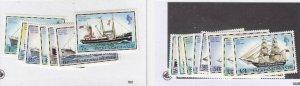 FALKLAND ISLANDS (MK5656ABC) # 260-274 +DUPLICATE VF-MNH 1978 MAIL SHIPS  CV $24