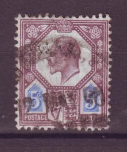 J17656 JLstamps 1902-11 great britain used #134 KEVII