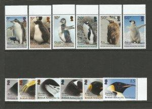 BAT British Antarctic Territory 2018 MNH Penguins Definitives 12v Set 1p To £5