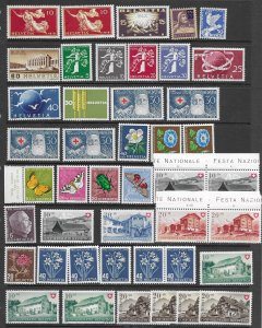 Switzerland misc stock MH and MNH, f-vf, see desc. 2019 CV $118.70