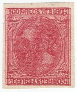 (I.B) Spain Postal : Correos y Telegrafos 10c (double print)