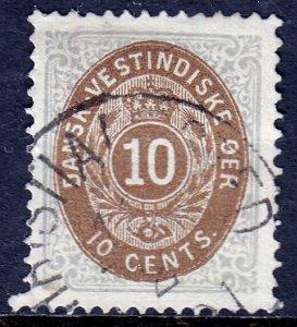 Danish West Indies - Scott #10 - P14X13½ - Used - SCV $30.00