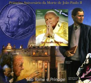 Sao Tome & Principe 2006 Pope John Paul II s/s Imperforated mnh.vf