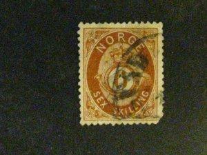 Norway #20 used short LR corner perf a198.9569