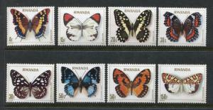 Rwanda 905-912, MNH, Insects Butterflies Schmetterlingen Papillons 1979. X27861