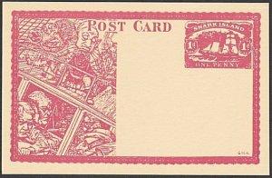 GB WONDERLAND Gerald King SNARK ISLAND fantasy postcard.....................R259