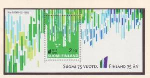 Finland Sc 897 1992 75th anniv Independence stamp sheet NH