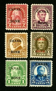 Canal Zone Stamps VF 6 fresh early mint OG H