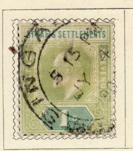 Malacca Straights Settlements 1902-09 Early Issue Fine Used 1c. NW-115539
