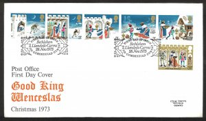 Great Britain CHRISTMAS (1973) FDC
