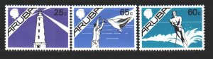 Aruba. 1986. 6-10 of the series. Hiking, lighthouse, water skiing. MNH.
