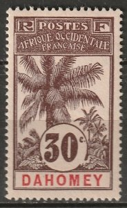 Dahomey 1906 Sc 24 MH* some disturbed gum