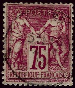 France #75 Used VF hr SCV$13.50..Very Popular Country!
