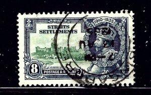 Straits Settlements 213 Used 1935 KGV Silver Jubilee  (RR) (ap1052)