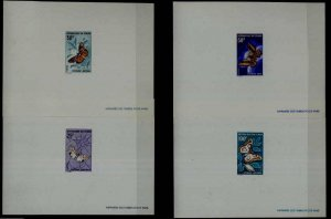 Chad 159-62, 4 MNH epruve sheets Butterflies