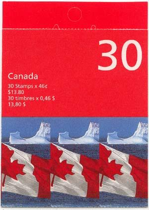 Canada - 1998 46c Flag Pane of 30 Complete Booklet #BK215b