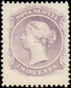 Canadaian Provinces - Nova Scotia #9, Incomplete Set, 1860-1863, Mint No Gum