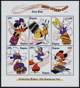 Guyana 3367 MNH Disney, Sporting Activities, Roller Blade