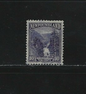 NEWFOUNDLAND - #139 - 10c HUMBER RIVER CANYON USED STAMP