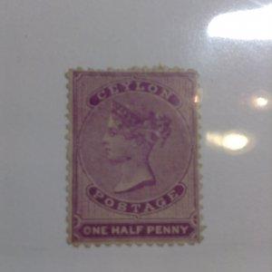 Ceylon  # 45  Used  thin  no gum