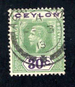 Ceylon #208,  F/VF, Used,, CV $3.75 ....  1290175