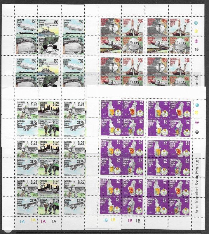 Barbuda 318-22a MNH cpl set x 6. vf see desc. 2020 CV$139.50
