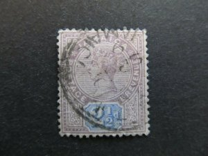 A4P21F27 Jamaica 1889-91 Wmk Crown CA 2 1/2d used