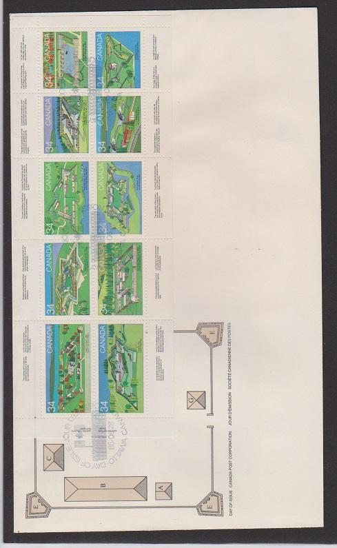 CANADA FDC  FOR CANADIAN FORTS1983 STAMPS #992a LOT#PPJ60