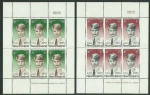 1973 NEW ZEALAND - SG: MS 1033 - HEALTH - PRINCE EDWARD - UNMOUNTED MINT