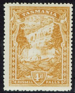 TASMANIA 1905 RUSSELL FALLS 4D WMK CROWN/A PERF 12.5