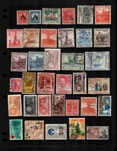 Colombia 35 diff  mint hinged and used