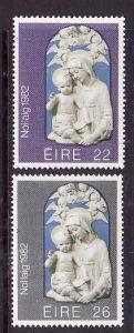 Ireland-Sc#535-6-unused NH set-Christmas-1982-