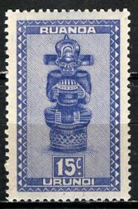 Ruanda Urundi 1948; Sc. # 91; **/MNH Single Stamp