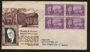 1945 Washington DC President Franklin D Roosevelt Memorial Quote Crosby Cover