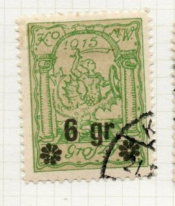 Poland Warsaw 1916 Early Issue Fine Used 6gr. Surcharged NW-14444