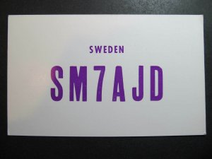 10536 Amateur Radio QSL Card RONNEBY SWEDEN