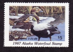 AK3 Alaska #3 MNH State Waterfowl Duck Stamp - 1987 Spectacled Eider