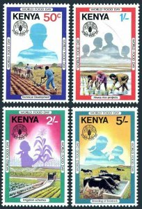 Kenya 203-206,MNH.Michel 201-204. World Food Day,1981.Plowing,Rice field,Cattle,