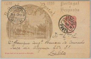 50859  - PORTUGAL -  POSTAL HISTORY -  STATIONERY CARD -  Michel # P45 1898