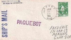 1954, S.S. William Lockenbach (Guam Paquebot Canx) to Meridian, CT (43231)
