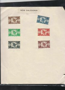 new caledonia & madagascar 1943 stamps page ref 18028