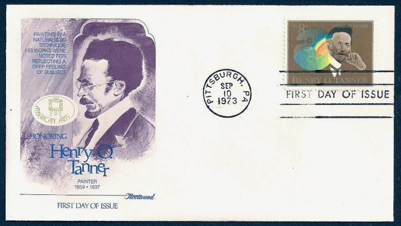 UNITED STATES FDC 8¢ Henry O Tanner 1973 Fleetwood