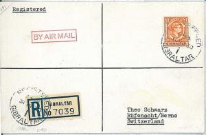POSTAL HISTORY : GIBRALTAR - Cover 1950 to SWITZERLAND
