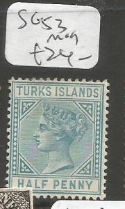 Turks Island SG 53 MOG (4cpq)