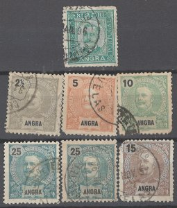COLLECTION LOT # 1981 ANGRA 7 STAMPS 1892+ CLEARANCE