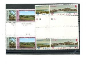 Guernsey, Isle of Man  Europa  1977 Mint VF NH - Lakeshore Philatelics