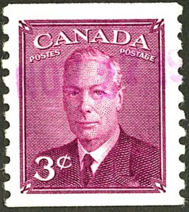 CANADA #299 USED VIOLET CANCEL