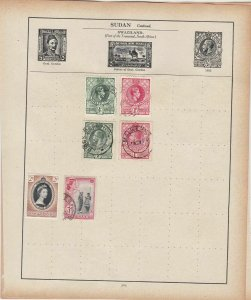 Sudan & Straits Settlements Stamps on Album Page ref R18921